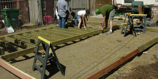 jak zbudować drewniany taras