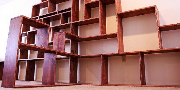 jak zrobić półkę na książki